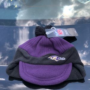 Baltimore Ravens Boys NFL Thermal Pom Beanie